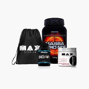 Combo Massa Nitro No2 - Grátis BAG Max Titanium