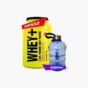 Whey Protein Premium (2000g) - 4 Plus Nutrition - Grátis Garrafão de Água