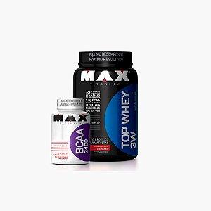 Top Whey 900g - Grátis BCAA (60 caps) - Max Titanium