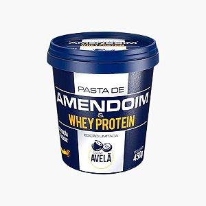 Pasta de Amendoim e Whey Protein c/ Avelã (450g) - Mandubim
