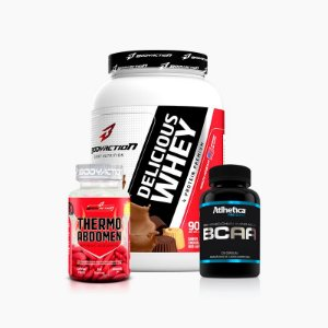 Delicious Whey(900g)+Thermo Abdomen(120caps)+BCAA PRO SERIES (60CAPS) - ATLHETICA NUTRITION