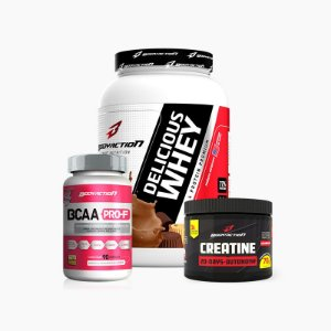 Delicious Whey(900g)+Creatina(70g)+BCAA Pro-F (90Caps) - Body Action