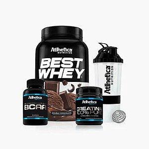 Best Whey + BCAA  + Creatina (Grátis Coqueteleira) - Atlhetica Nutrition