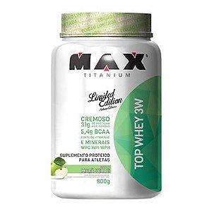 Top Whey 3W Maça Verde (900g) - Max Titanium