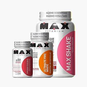 Combo Fitshake + Fatmax + Cromo + Brinde - Max Titanium