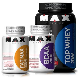 Top Whey (900g) + BCAA (100caps) + Fat Max Thermo (120caps)