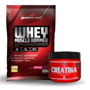 Whey Muscle Hammer (1800g) + Creatina (100g) - Body Action
