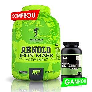 Arnold Iron Mass (2,270g) + Creatina 300g Optimum Nutrition