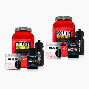 2x Kit Isolate Definition 900g + Creatina 150g + BCAA 120 caps