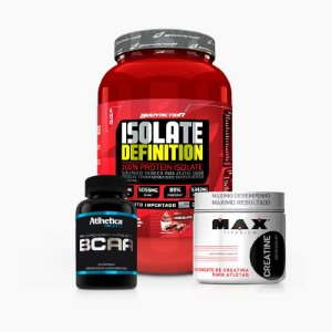 Isolate Definition 900g + C Max 150g + BCAA Pro Series 120caps