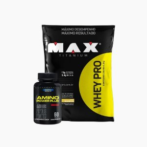 Whey Pro Max (1500g) + Amino Power Plus (60caps)