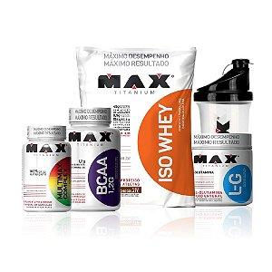 Combo Full Pack - IsoWhey 1800g + Glutamina 300g + Multimax +  BCAA 1,2g