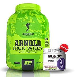 Arnold Iron Whey (2.270g) + BCAA Drink (280g) Max Titanium