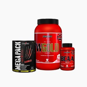 Mega Pack 22 Packs + Wgold 900g  + Amino Bcaa 150 Caps - Integral Médica