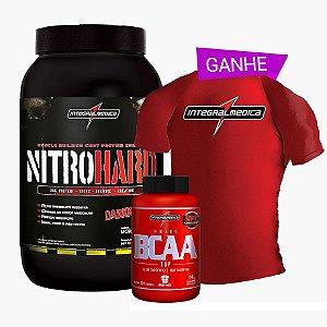 Nitrohard 900g + Bcaa Fix 120 Caps + Camisa Dry Fit - Integral Medica