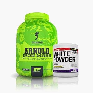 Iron Mass Arnold (5lb) Ganha White Powder Power Supplements