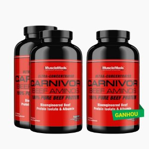 Carnivor Beef Aminos (270caps) - (COMPRE 2 LEVE 3) - MuscleMeds