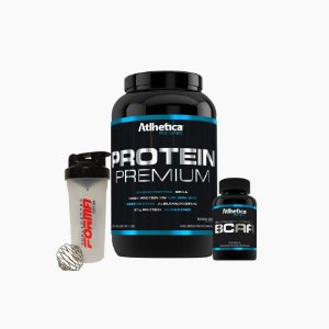 Protein Premium(900g) + Bcaa Pro Series(120caps) + Shaker Forma - Atlhetica Nutrition