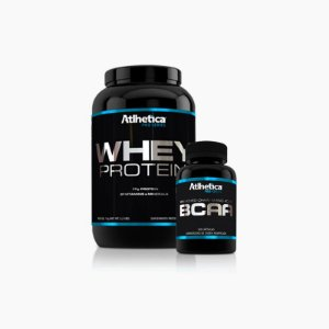 Whey Protein Pro Series(1kg) + Bcaa Pro Series(120caps) - Atlhetica Nutrition