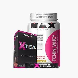 Femini Whey (900g) + X-tea - Max Titanium