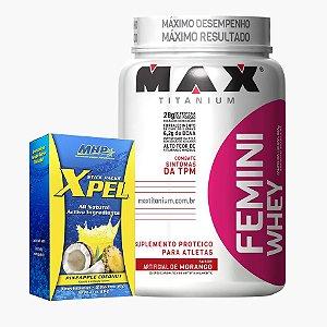 Femini whey (900g) + Xpel (20 sachês)  - Max Titanium