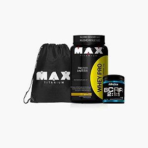 Whey Pro Max (1kg) + BCAA Pro Series (210g) + Bag Max Titanium