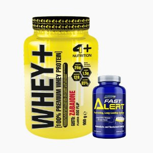 Whey + (900g) + Fast Alert (100 tabs) - 4 Plus Nutrition