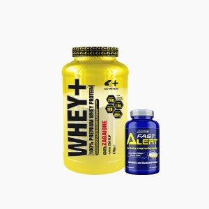 Whey + (2000g) + Fast Alert (100 tabs) - 4 Plus Nutrition