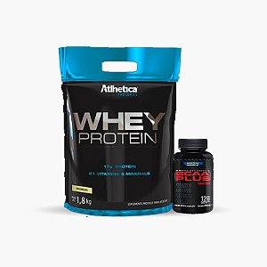 Protein Premium Refil (1,8kg) + Bcaa Plus (120 caps) - Atlhetica Nutrition