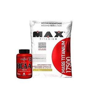 Mass Titanium (1,4 kg) + Amino Bcaa (120 caps) - Max Titanium
