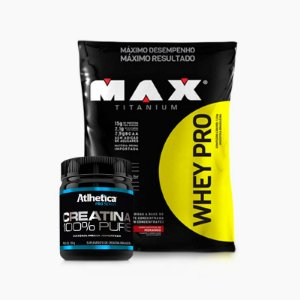 Whey Pro Max (1,5 kg) + Creatina Pro Series (100g) - Max Titanium  VENC:(06/2017)
