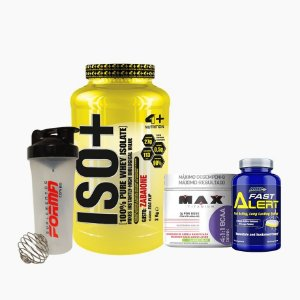 Iso+ (2000g) + BCAA Drink (280g) + Fast Alert (100tabs) + Shaker Forma - 4 Plus Nutrition