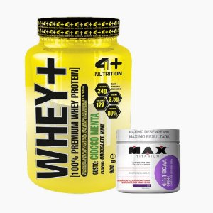 Whey+ (900g) + Bcaa Drink (280g) - 4 Plus