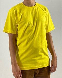 Camiseta Amarelo Canário, 100% Algodão, Fio 30.1 Penteado