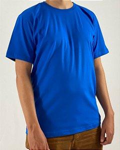 Camiseta Azul Royal, 100% Algodão, Fio 30.1 Penteado