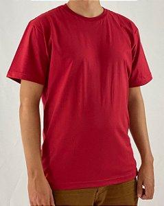 Camiseta Bordo, 100% Algodão, Fio 30.1 Penteado