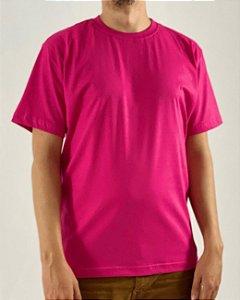 Camiseta Rosa Pink, 100% Algodão, Fio 30.1 Penteado
