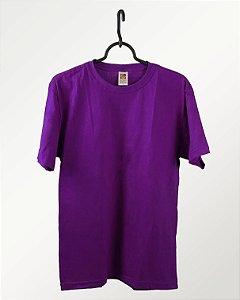 Camiseta Roxo, 100% Algodão, Fio 30.1 Penteado
