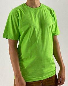 Camiseta Verde Limão, 100% Algodão, Fio 30.1 Penteado