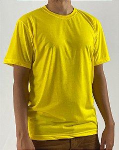 Camiseta Amarelo Canário, 100% Poliéster