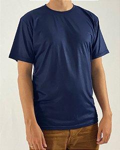 Camiseta Azul Marinho, 100% Poliéster