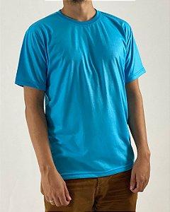 Camiseta Azul Turquesa, 100% Poliéster