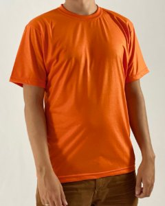 Camiseta Laranja, 100% Poliéster