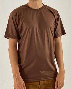 Camiseta Marrom, 100% Poliéster