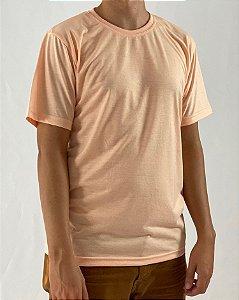 Camiseta Salmão, 100% Poliéster