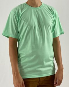 Camiseta Verde Água, 100% Poliéster