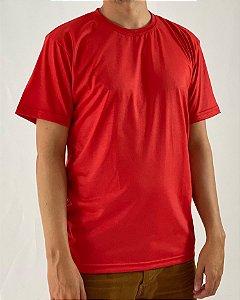 Camiseta Vermelha, 100% Poliéster
