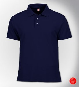 Camiseta Polo Azul Marinho, Malha Piquet