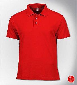 Camiseta Polo Vermelha, Malha Piquet