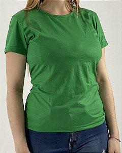 Baby Look Verde Bandeira, 100% Poliéster